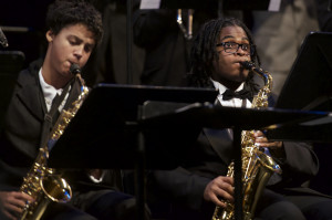 High school jazz musicians (Click photo to enlarge)