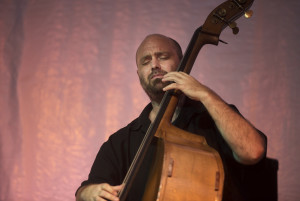 Bassist Larry Gray with Condition Blue (Click photo to enlarge)